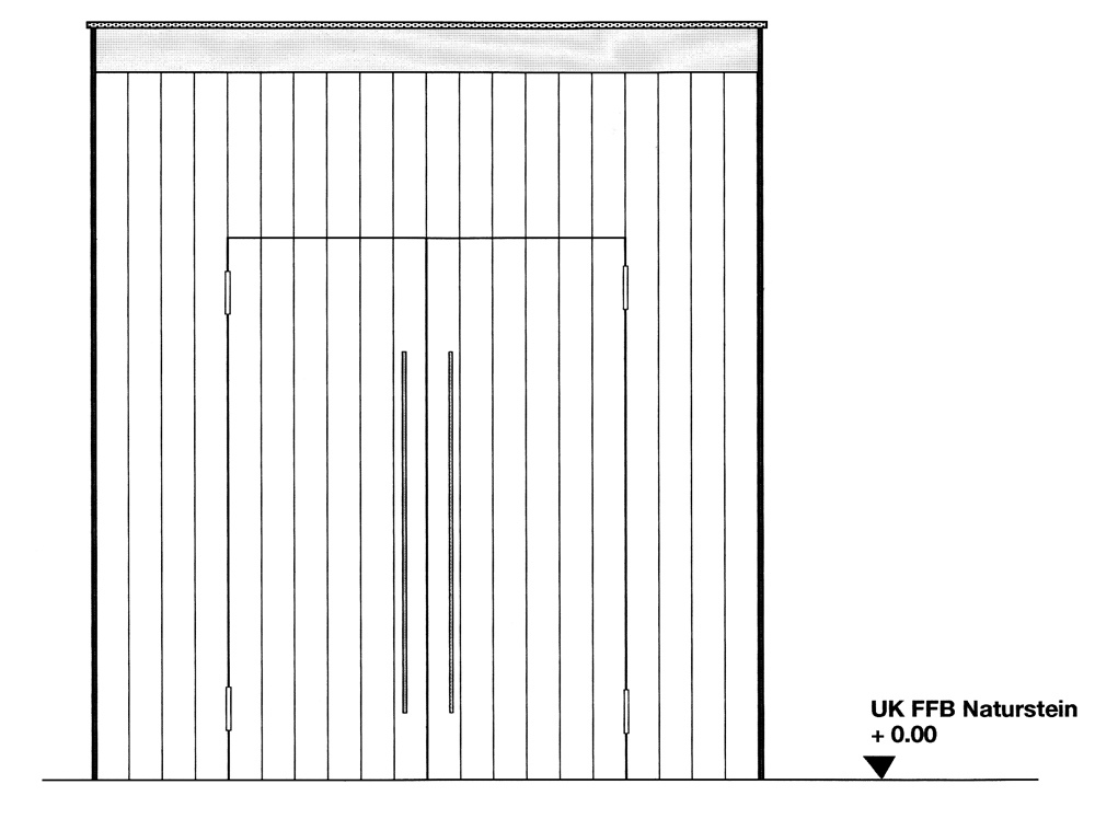 So fängt ein Auftrag für unsere Schreinerei an: Mit einer Skizze von uns oder wie hier mit einer Bauzeichnung eines Architekten für ein Kirchenportal. Wie es weiter geht, zeigen wir Ihnen Schritt für Schritt.